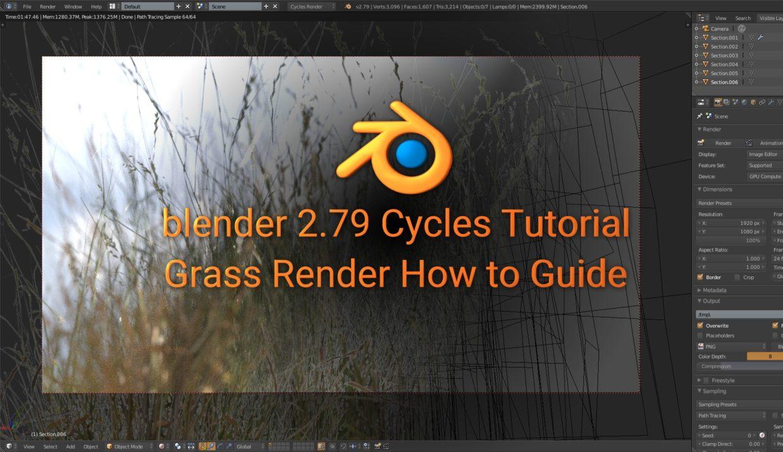 Rendering Grass, How to render guide (Blender) - Robert Straub