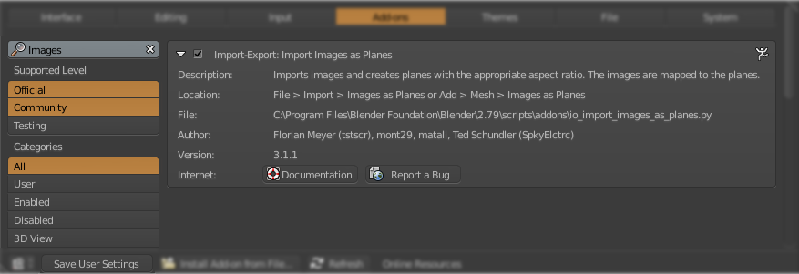 Enabling Import Images as Planes